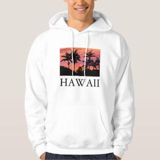 Silhouettierte Palmen, Hawaii Hoodie