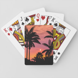 Silhouettierte Palmen, Hawaii Spielkarten