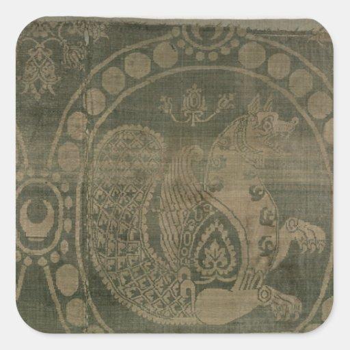 Silk Fragment, welches das 'Senmurv zeigt Sticker