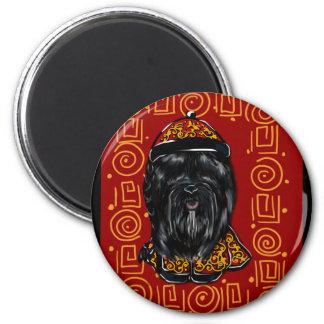 Silk Hundejahr Havanas des Hundes Runder Magnet 5,7 Cm