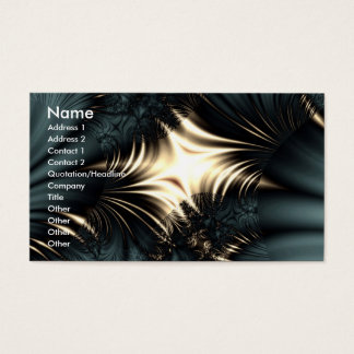 Silk Schwarzweiss-Karte Visitenkarte