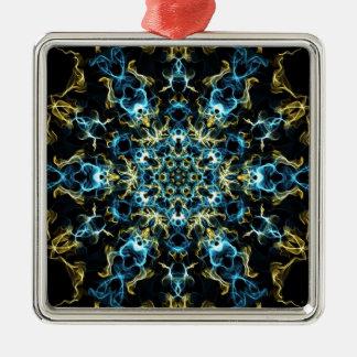 Silk Träume Quadratisches Silberfarbenes Ornament
