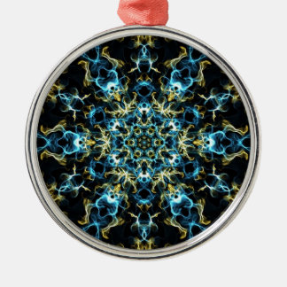 Silk Träume Rundes Silberfarbenes Ornament