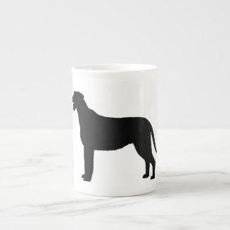Silo black.png des irischen Wolfhound Porzellantasse