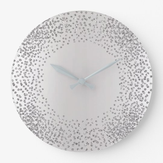 Silver Gray Crystals Confetti Glitzer Gems MInimal Große