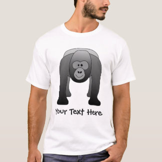 Silverback-Gorilla-Cartoon T-Shirt