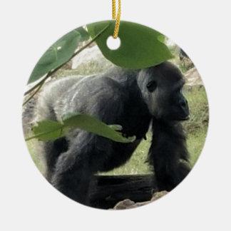 Silverback-Gorilla Keramik Ornament