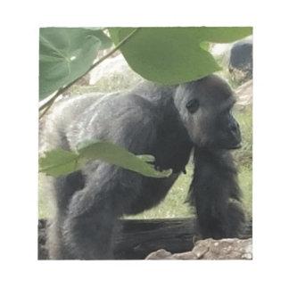 Silverback-Gorilla Notizblock