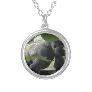 Silverback-Gorilla Versilberte Kette