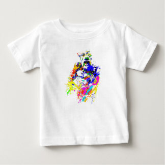 Silverback-Tiefland-Gorilla-Spritzer-Farben-Effekt Baby T-shirt