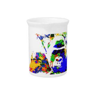 Silverback-Tiefland-Gorilla-Spritzer-Farben-Effekt Krug