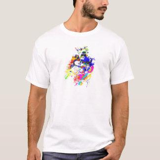Silverback-Tiefland-Gorilla-Spritzer-Farben-Effekt T-Shirt