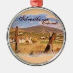 Silverthorne Colorado rustikale Szenenverzierung Weihnachtsornament