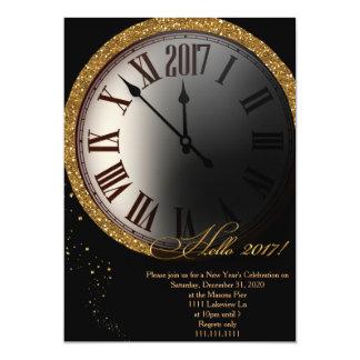 Silvesterabend-Einladung, Silvesterabend 12,7 X 17,8 Cm Einladungskarte