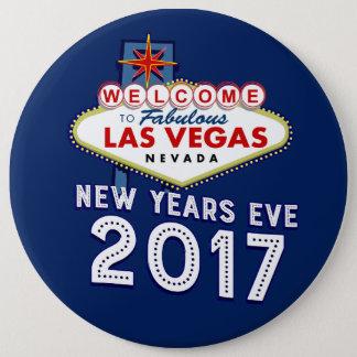 Silvesterabend Las Vegas 2017 Runder Button 15,3 Cm