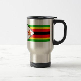Simbabwe-Flagge Reisebecher
