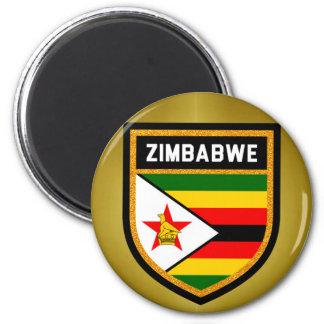 Simbabwe-Flagge Runder Magnet 5,1 Cm