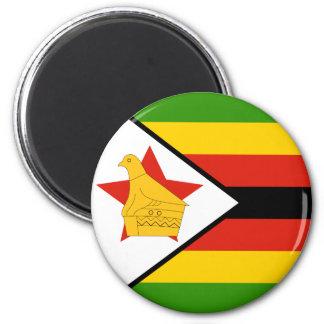 Simbabwe-Flagge Runder Magnet 5,7 Cm