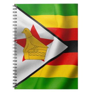 Simbabwe-Flagge Spiral Notizblock
