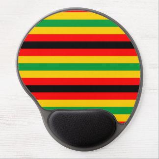 Simbabwe-Flagge stripes Linien Landfarben Gel Mousepad