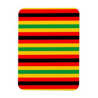Simbabwe-Flagge stripes Linien Landfarben Magnet
