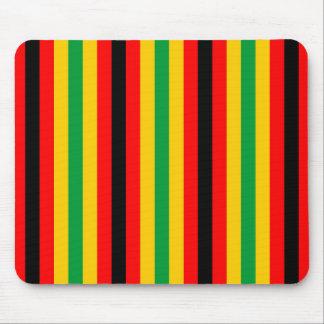 Simbabwe-Flagge stripes Linien Landfarben Mousepads