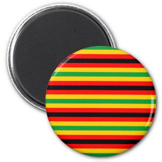 Simbabwe-Flagge stripes Linien Landfarben Runder Magnet 5,7 Cm