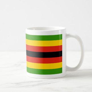 Simbabwe-Flaggen-Kaffee-Tasse Kaffeetasse
