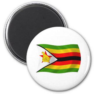 Simbabwe-Flaggen-Magnet Runder Magnet 5,7 Cm