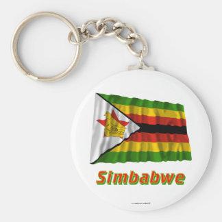 Simbabwe Fliegende Flagge MIT Namen Schlüsselband