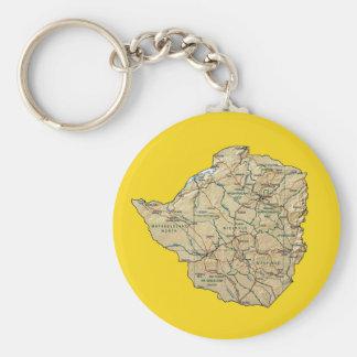 Simbabwe-Karte Keychain Schlüsselanhänger