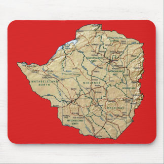 Simbabwe-Karte Mousepad