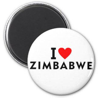 Simbabwe-Land der Liebe I wie Herzreisetourismus Runder Magnet 5,1 Cm