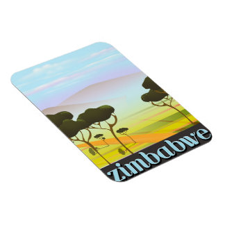 Simbabwe-Landschaftsreiseplakat Magnet