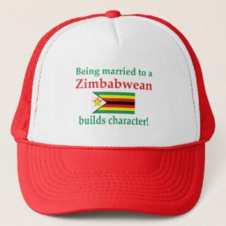 Simbabwer errichtet Charakter Truckerkappe