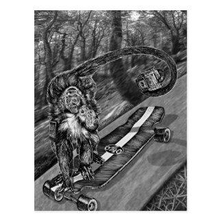 Simeon Skateboard Selfie Postkarte