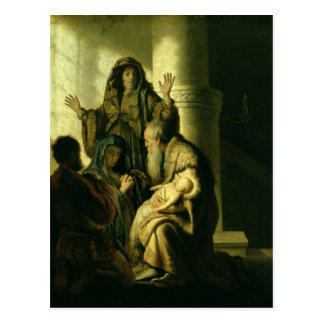 Simeon und Hannah im Tempel, c.1627 Postkarte