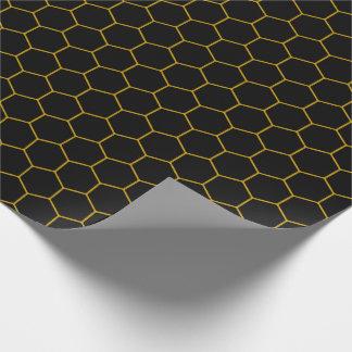 Simple honeycomb pattern with dark background geschenkpapier
