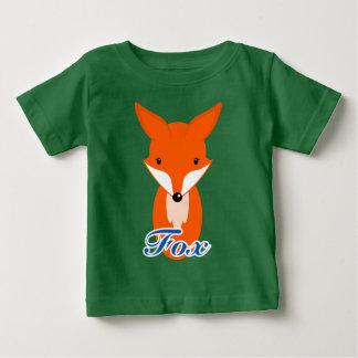 simple retro fox baby t-shirt
