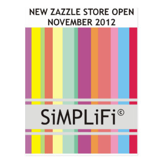 SiMPLiFi neuer Zazzle Speicher Postkarte