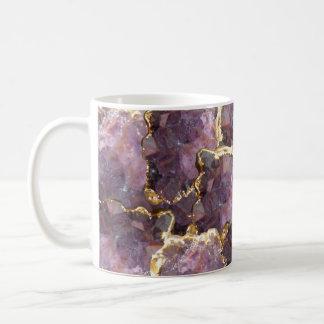 Simplydone Amethyst Kristall und Kaffeetasse