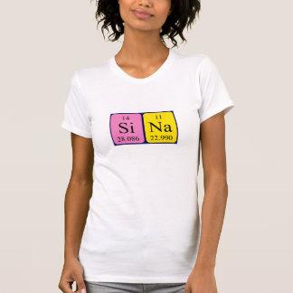 Sina Namen-Shirt periodischer Tabelle Tshirt