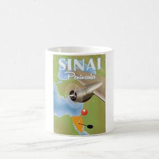 Sinai-Halbinsel-Flugreiseplakat Kaffeetasse