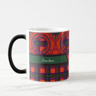 Sinclair Clan karierter schottischer Tartan Verwandlungstasse
