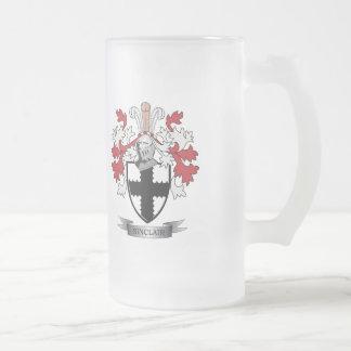 Sinclair Familienwappen-Wappen Mattglas Bierglas