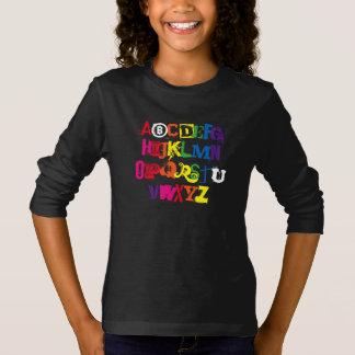 Sind Sie Alphabet-lustige Regenbogen-Typografie T-Shirt