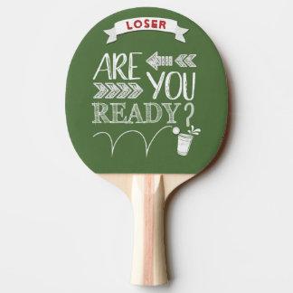 Sind Sie bereit? Bier Pong Fußball-Tafel Tischtennis Schläger