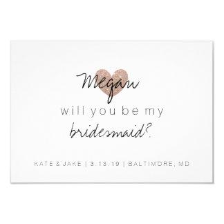 Sind Sie die Fab Rose meines Brautjungfer-Glitzer Karte