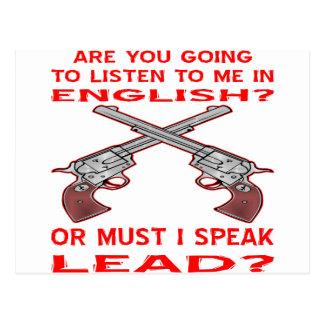 Sind Sie gehend, auf mich in englischem oder in Postkarte