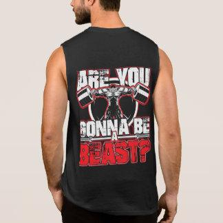 Sind Sie gehend, ein Tier-Turnhallenmotivations-T Ärmelloses Shirt